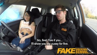 Fake Driving School half Asian tiny student fucks for free lessons  car sex sex in car driving school big cock british instructor driving instructor asian blowjob cumshot fds interracial fakedrivingschool reality mixed race tutor