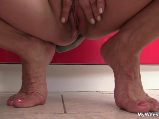 Her hubby fucks old mother-in-law