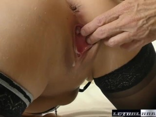 brooklyn dirty talks her way to a huge creampie and facal