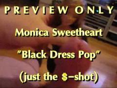 PREVIEW Monica Sweetheart Black Dress Pop