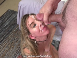 petite taylor kate gets creamy facial