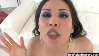 RealAsianExposed - Jessica Bangkok always chooses cock over her didlo.  big booty big tits asian thick rough drilled deepthroat realasianexposed big boobs choke toying natural tits trimmed pussy throat fucking cum in mouth choking