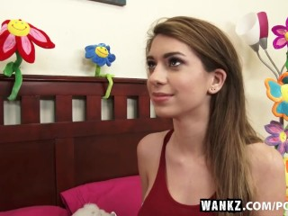WANKZ- Latina Teen Stretched to the Max