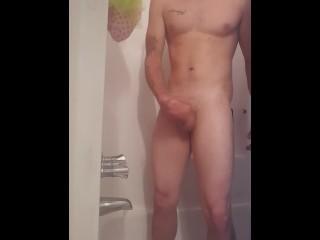 Jerking in shower till i cum