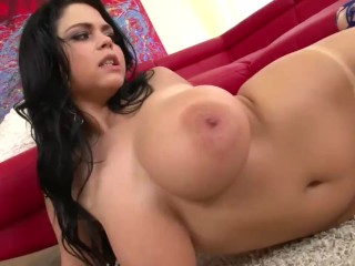 Busty Rich Girl Shione Cooper pleasures her Tanlined Pussy