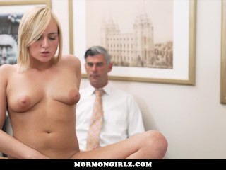 MormonGirlz-Teen with big boobs ordered to masturbate