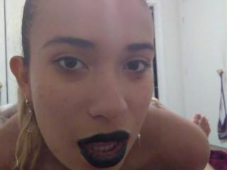 Black lips blowjob