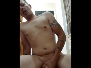 Hot guy riding a huge dildo with cumshot!!!