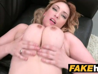 Fake Agent Spanish babe with huge tits wants a good fucking on the couch
