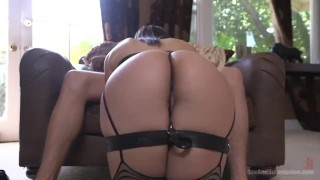 Sexual Objectification  pain slut big ass ball gag nipple clamps high heels slave submission gag leather fetish big dick curvy brunette bondage sexandsubmission pain abella danger