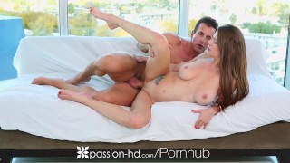PASSION-HD Spying Dillion Carter gets warm creampie after workout