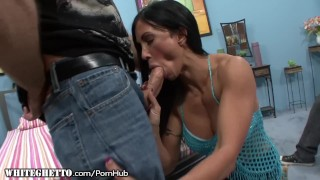 Jewels Jade on Hard Cock as Hubby Watches  big tits raven riding reverse cowgirl cuckold blowjob cumshot whiteghetto milf cowgirl cougar shaved mother deepthroat tattoos big boobs open mouth cumshot fake tits
