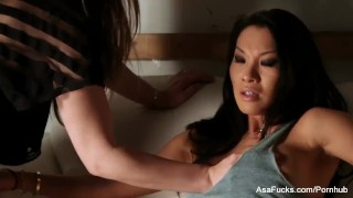 Stockholm syndrome with Asa Akira and Dani Daniels  tied up babe asian pornstar puba asaakira tattoo skinny toys hardcore lesbian japanese brunette asafucks pussy licking sex toys natural tits adult toys girl on girl