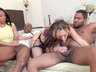 black dudes share their big butt wives with each other