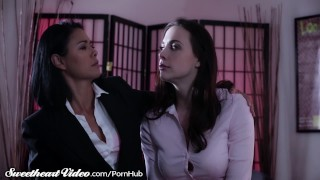 Sweetheart Chanel Preston Eats Out MILF Boss  big tits hairy kissing lesbians asian tattoo small tits skinny boss milf office lesbian sweetheartvideo fingering tattoos pussy licking pussy eating desk girl on girl