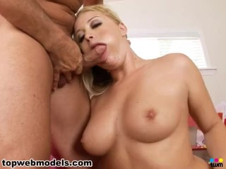 all natural tits blonde holly morgan fucked for cum facial! must see! a++