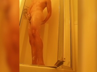 amateur shower with a little added fun