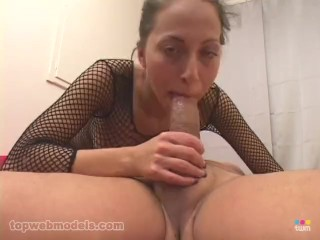 petite latina veronica jett huge cock deepthroat blowjob huge facial! wow!