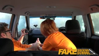 fakedrivingschool british redhead ginger fds driving school car car sex sex in car instructor brit uk nerd geek cremapie reality pov