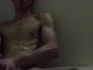 self pleasure - stroking hard cock for release