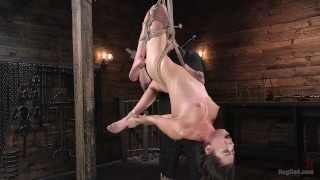 Bondage Slut's Torment  vaginal penetration pain bdsm submission humiliation the pope domination squirting hogtied fingering bondage rope bondage ball gag handler corporal punishment