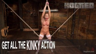 Bondage Slut's Torment  vaginal penetration pain bdsm submission humiliation the pope domination squirting fingering bondage rope bondage ball gag handler hogtied corporal punishment
