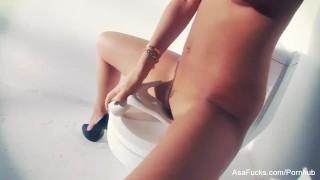 Porn legend Asa Akira lends herself a hand  babe masturbating asian masturbate solo puba asaakira skinny brunette asafucks adult toys masturbation solo girl pornstar tattoo toys hardcore japanese sex toys