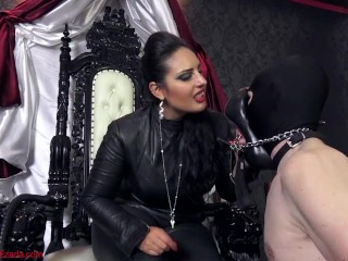 Shoe worship slave audition