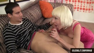 Old woman Dalny Marga seduces boy
