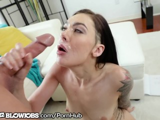 Marley Brinx Wants Friends Cum in Throat