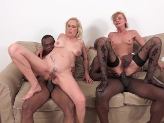 sexy grannies double penetrated by big black dick