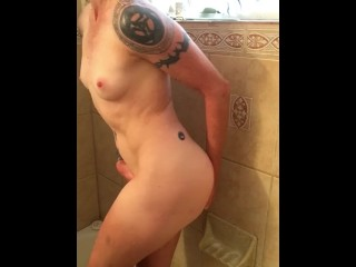 Sexy shower girl with wet pussy and ass fucking masturbation