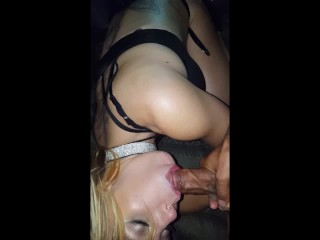 Sexy slut gets dp'ed by huge dick and huge dildo