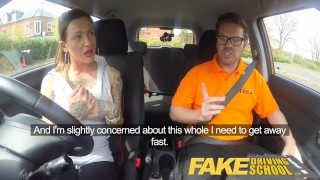 Preview 1 of Fake Driving School Messy creampie advanced lesson for tattooed thot