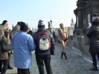 Blonde Teen Naomi Naked In Public