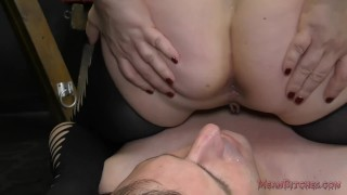 Mistress Aiden Starr Makes Her Slave Worship Her Beautiful Ass - Femdom  big tits asshole closeup slave asslicking bdsm bbw femdom meanbitches kink curvy domme mistress big boobs aiden starr dungeon natural tits ass eating