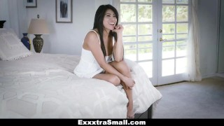 ExxxtraSmall - Tiny Little Asian Gets Drilled By A Huge Cock big cock teamskeet asian small frame exxxtrasmall hairy cumshot smalltits tiny brunette skinny ember snow bigcock petite spinner facial