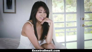 ExxxtraSmall - Tiny Little Asian Gets Drilled By A Huge Cock  ember snow big cock exxxtrasmall hairy tiny asian cumshot skinny teamskeet smalltits brunette petite facial small frame spinner bigcock
