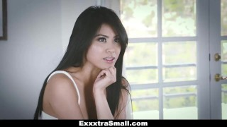 ExxxtraSmall - Tiny Little Asian Gets Drilled By A Huge Cock  big cock exxxtrasmall hairy tiny asian cumshot skinny teamskeet brunette petite bigcock facial small frame ember snow smalltits spinner