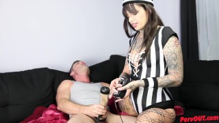 Leigh Raven Femdom Referee w Lance Hart FACE SITTING CUM DRAINING  bratty femdom foot fetish sweetfemdom ass worship foot worship leigh raven leigh raven feet ruined orgasm lance hart face sitting Post Orgasm Torture