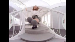 VIRTUAL TABOO - Horny Zoe Pleasures Herself on Stairways
