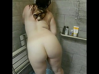 A Shower with Velvet ( Young Cute Redhead Washing Herself in Cold Shower )