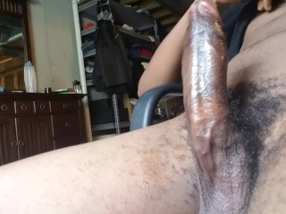 Teen stroking his bbc for you