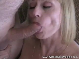 Double Blowjob From Amateur GILF