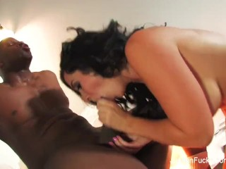 Busty Jayden Jaymes gets a facial from a BBC