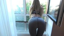 Step brother grinding and cums on yoga pants step sister with penetration preview