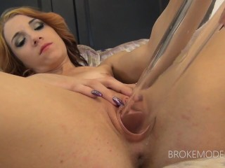 IVY - Skinny Ginger Stripper Gets Ass Fucked