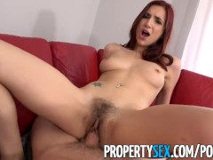 PropertySex - Hot redhead real estate agent fucks her new boss