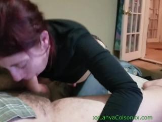 Lanya Colson performing oral pleasure duties