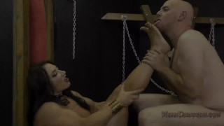 Muscle Queen Brandi Mae Makes Her Slave Worship Her Ass - Femdom  ass worship muscle woman fitness model face sitting slave bdsm meanbitches kink domme butt mistress foot worship asshole licking muscle ass kissing ass licking brandi mae